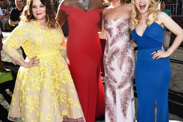 Mandatory Credit: Photo by Buckner/Variety/REX/Shutterstock (5754112bs) Melissa McCarthy, Leslie Jones, Kristen Wiig and Kate McKinnon 'Ghostbusters' film premiere, Arrivals, Los Angeles, USA - 09 Jul 2016