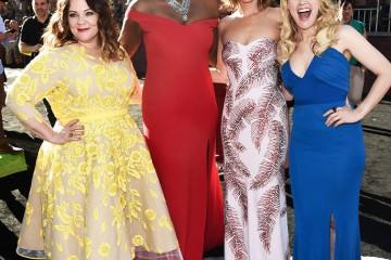 Mandatory Credit: Photo by Buckner/Variety/REX/Shutterstock (5754112bs) Melissa McCarthy, Leslie Jones, Kristen Wiig and Kate McKinnon 'Ghostbusters' film premiere, Arrivals, Los Angeles, USA - 09 Jul 2016