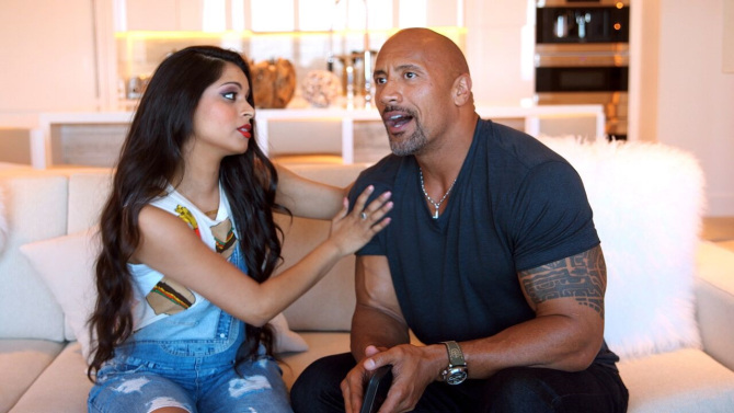 dwayne-johnson-and-lilly-singh-superwoman