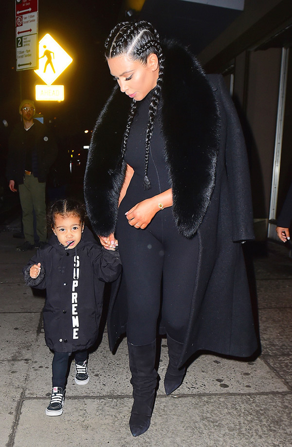 kim-kardashian-north-west-nyfw-matching-black-outfit-spl-2
