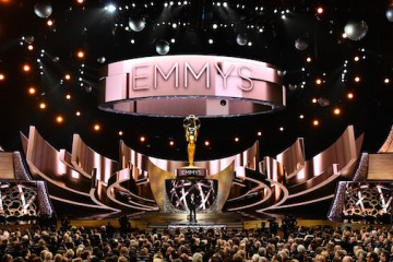 Host Jimmy Kimmel speaks at the 68th Primetime Emmy Awards on Sunday, Sept. 18, 2016, at the Microsoft Theater in Los Angeles. (Photo by Vince Bucci/Invision for the Television Academy/AP Images)