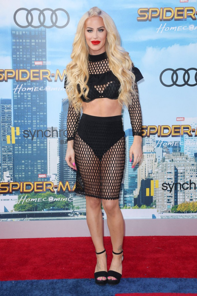 Mandatory Credit: Photo by Matt Baron/REX/Shutterstock (8882958ah) Gigi Gorgeous 'Spider-Man: Homecoming' film premiere, Arrivals, Los Angeles, USA - 28 Jun 2017
