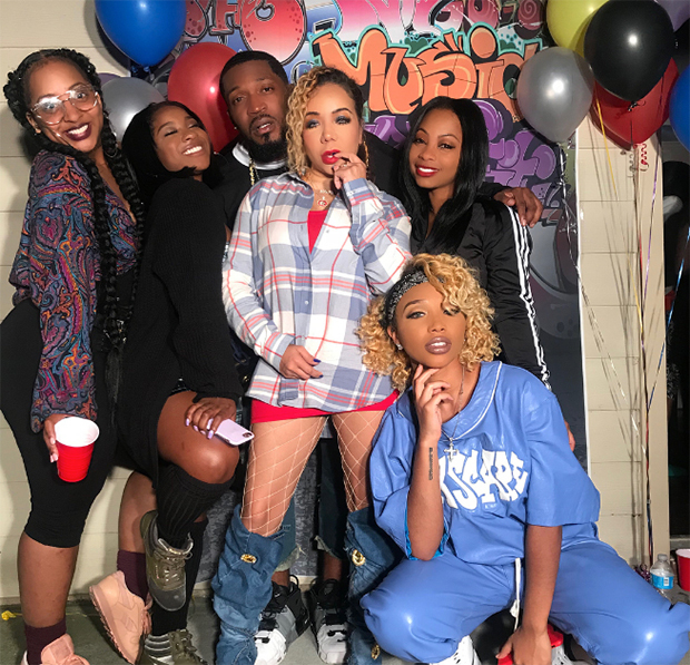 Tiny Harris Shows Off Sexy Curves In Fishnets & Knee-High Boots For 90s  Themed Party