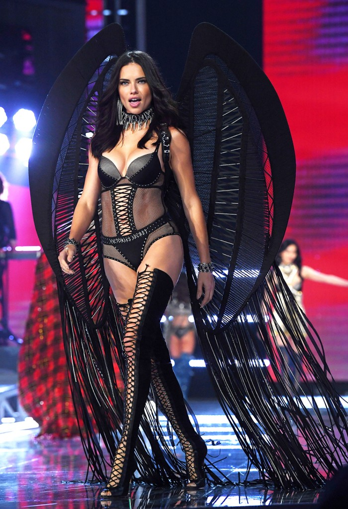 Mandatory Credit: Photo by David Fisher/REX/Shutterstock (9229173ae) Adriana Lima on the catwalk Victoria's Secret Fashion Show, Runway, Shanghai, China - 20 Nov 2017