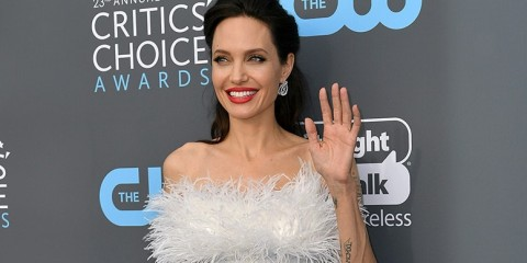 Mandatory Credit: Photo by Rob Latour/REX/Shutterstock (9315352dg) Angelina Jolie Critics' Choice Awards, Arrivals, Los Angeles, USA - 11 Jan 2018