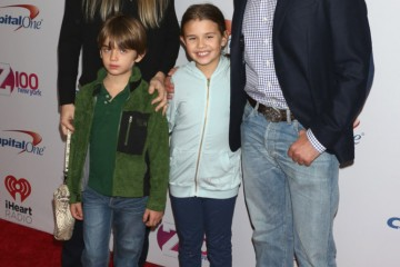 Mandatory Credit: Photo by Gregory Pace/REX/Shutterstock (5491191gf) Donald Trump Jnr, wife Vanessa Haydon Trump, and children Kai Madison and Donald John III Z100 iHeartRadio Jingle Ball, New York, America - 11 Dec 2015