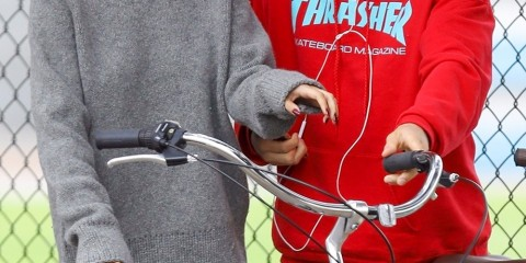 Los Angeles, CA  - This morning Selena Gomez stepped out again with Justin Bieber for a biking session in Los Angeles. The 25-year-old singer and her on-off ex appeared to be having a blast during their outing together. Selena beamed ear to ear while rocking a gray sweater with leggings while talking animatedly to Justin.  Pictured: Selena Gomez, Justin Bieber  BACKGRID USA 1 NOVEMBER 2017   BYLINE MUST READ: Vasquez-Max Lopes / BACKGRID  USA: +1 310 798 9111 / usasales@backgrid.com  UK: +44 208 344 2007 / uksales@backgrid.com  *UK Clients - Pictures Containing Children Please Pixelate Face Prior To Publication*