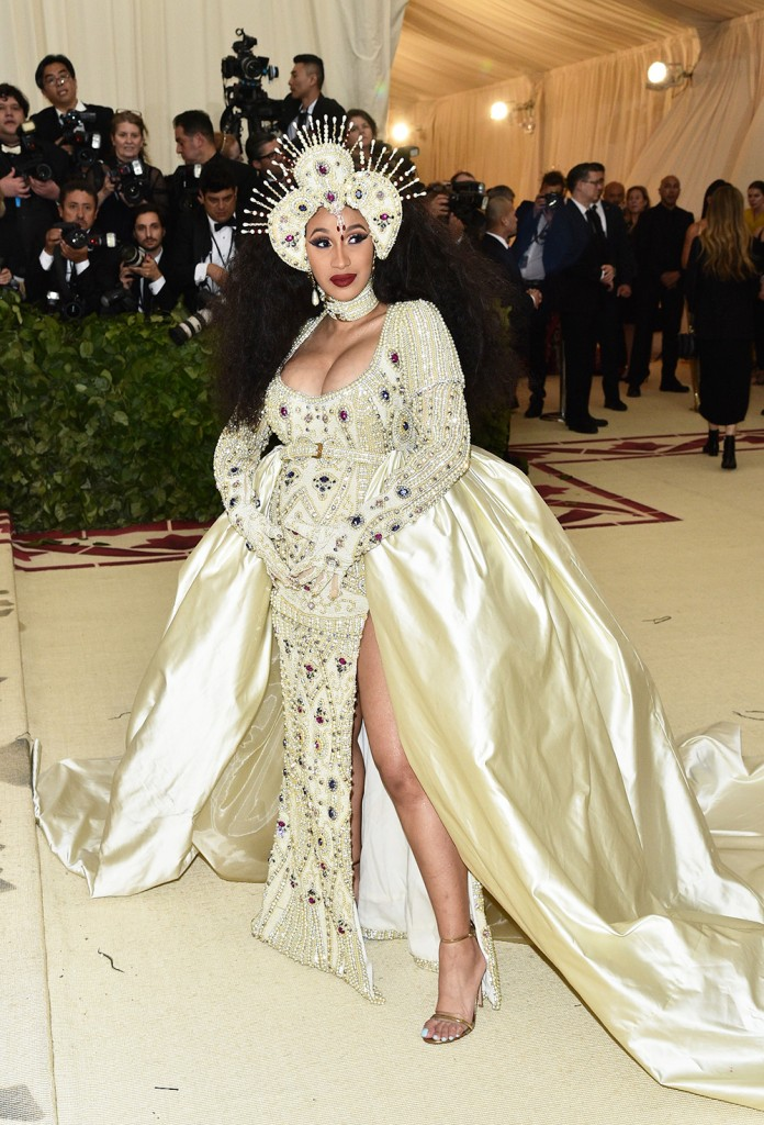 Mandatory Credit: Photo by Andrew H. Walker/REX/Shutterstock (9662977ev) Cardi B The Metropolitan Museum of Art's Costume Institute Benefit celebrating the opening of Heavenly Bodies: Fashion and the Catholic Imagination, Arrivals, New York, USA - 07 May 2018