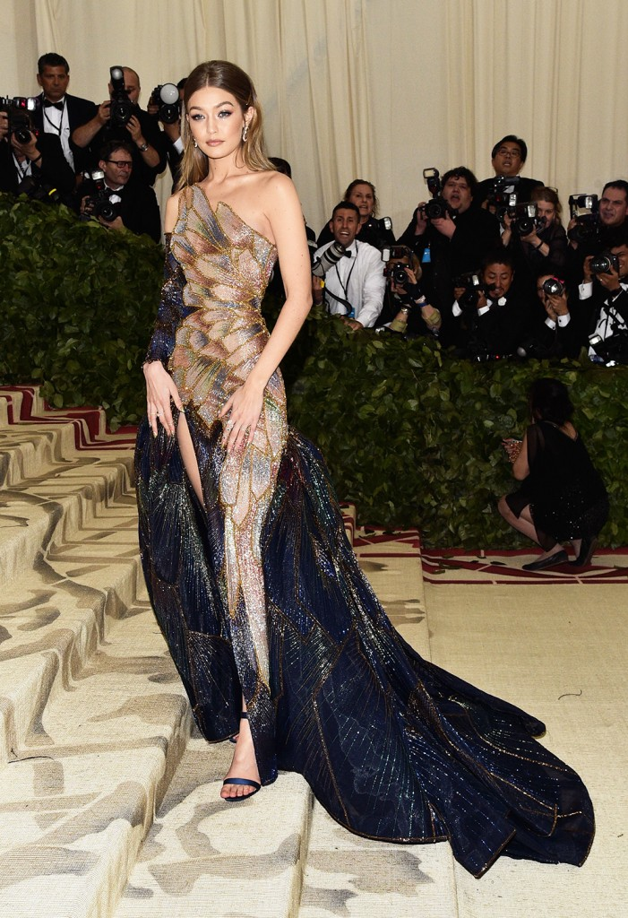 Mandatory Credit: Photo by Andrew H. Walker/REX/Shutterstock (9662977el) Gigi Hadid The Metropolitan Museum of Art's Costume Institute Benefit celebrating the opening of Heavenly Bodies: Fashion and the Catholic Imagination, Arrivals, New York, USA - 07 May 2018