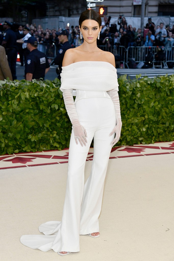 Mandatory Credit: Photo by Charles Sykes/Invision/AP/REX/Shutterstock (9665034ld) Kendall Jenner attends The Metropolitan Museum of Art's Costume Institute benefit gala celebrating the opening of the Heavenly Bodies: Fashion and the Catholic Imagination exhibition, in New York 2018 MET Museum Costume Institute Benefit Gala, New York, USA - 07 May 2018