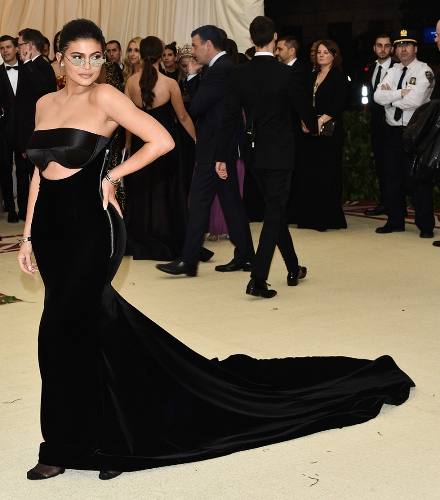 Mandatory Credit: Photo by Andrew H. Walker/REX/Shutterstock (9662977er) Kylie Jenner The Metropolitan Museum of Art's Costume Institute Benefit celebrating the opening of Heavenly Bodies: Fashion and the Catholic Imagination, Arrivals, New York, USA - 07 May 2018