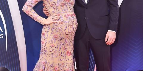 Mandatory Credit: Photo by Stephen Lovekin/REX/Shutterstock (9975716eb) Carrie Underwood, Mike Fisher 52nd Annual CMA Awards, Arrivals, Nashville, USA - 14 Nov 2018