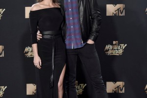 Mandatory Credit: Photo by Invision/AP/REX/Shutterstock (9241417hj) Vanessa Grimaldi, left, and Nick Viall arrive at the MTV Movie and TV Awards at the Shrine Auditorium, in Los Angeles 2017 MTV Movie and TV Awards - Arrivals, Los Angeles, USA - 7 May 2017