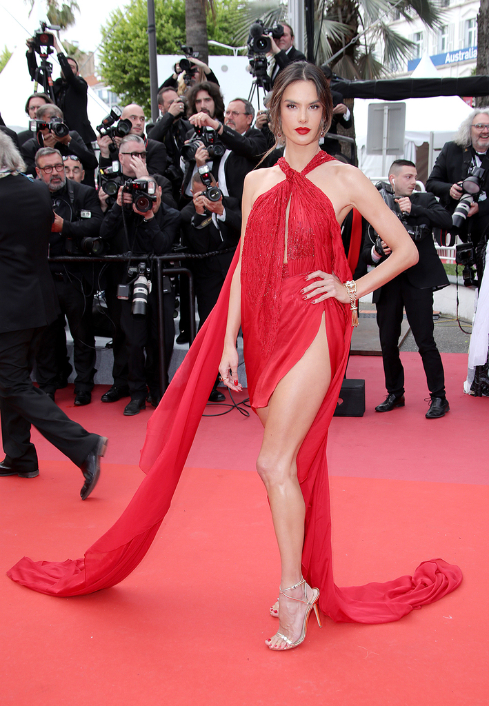 Mandatory Credit: Photo by Matt Baron/REX/Shutterstock (10237697y) Alessandra Ambrosio 'Les Miserables' premiere, 72nd Cannes Film Festival, France - 15 May 2019