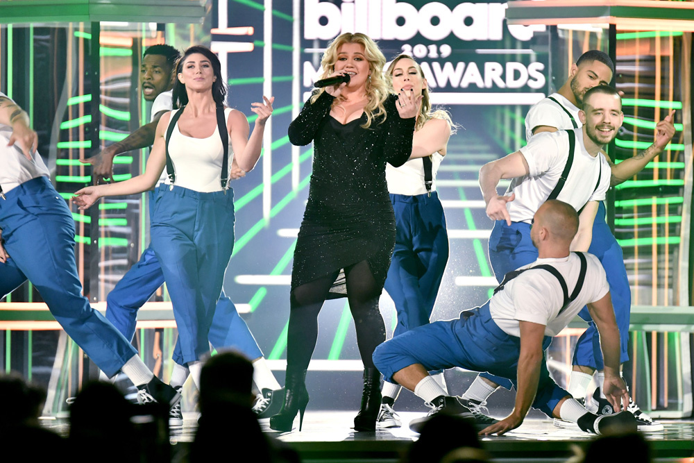 Mandatory Credit: Photo by Rob Latour/REX/Shutterstock (10222625j) Kelly Clarkson Billboard Music Awards, Show, MGM Grand Garden Arena, Las Vegas, USA - 01 May 2019