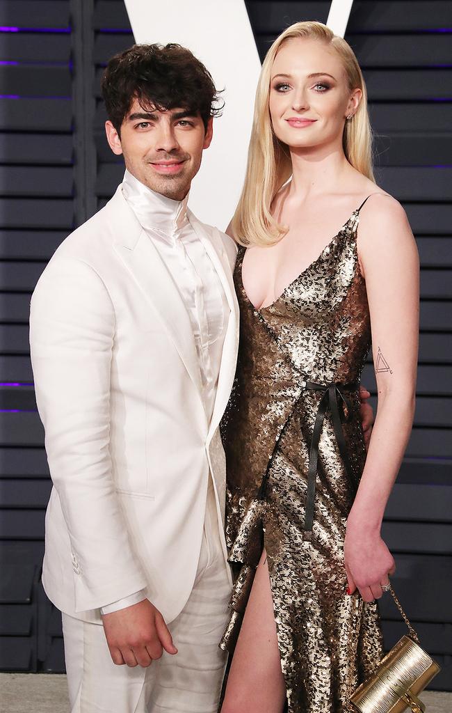 Mandatory Credit: Photo by Matt Baron/REX/Shutterstock (10119055mp) Joe Jonas and Sophie Turner Vanity Fair Oscar Party, Arrivals, Los Angeles, USA - 24 Feb 2019
