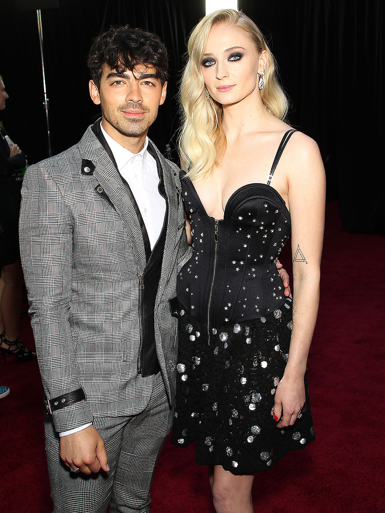 "Mandatory Credit: Photo by Marion Curtis/Starpix for HBO/REX/Shutterstock (10186109aj) Joe Jonas, Sophie Turner New York Red Carpet Premiere for HBO's final season of ""GAME OF THRONES"", New York, USA - 03 Apr 2019"