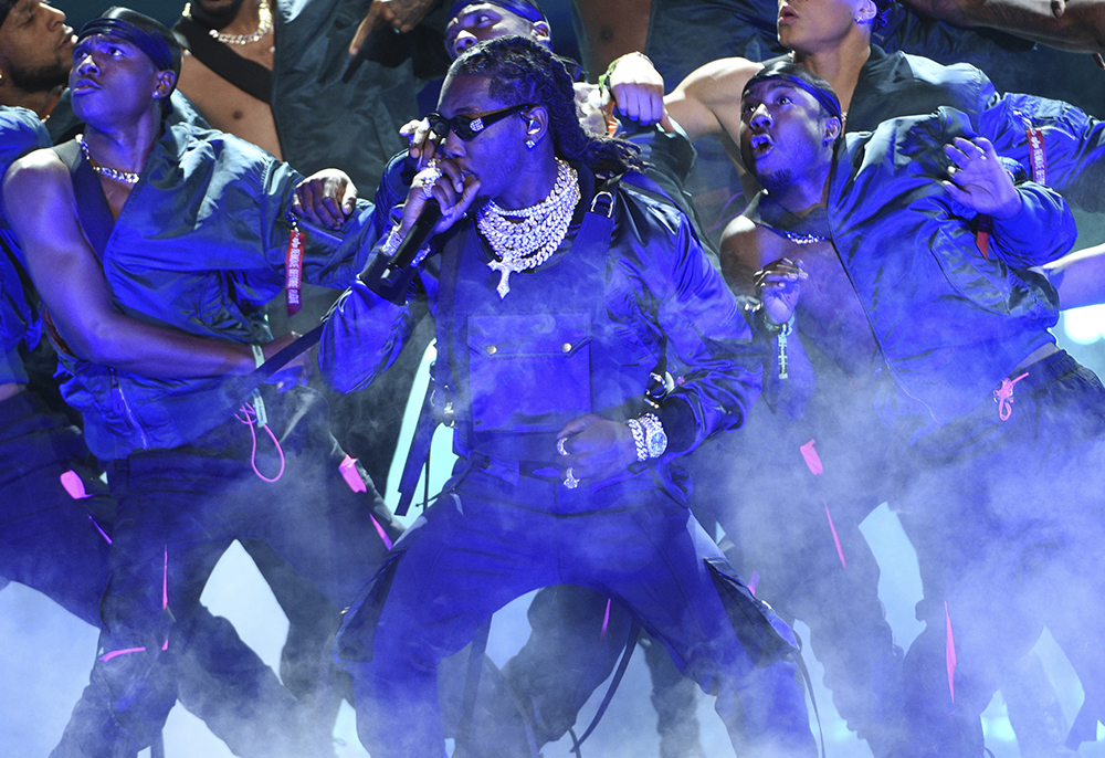 Offset performs at the BET Awards on Sunday, June 23, 2019, at the Microsoft Theater in Los Angeles. (Photo by Chris Pizzello/Invision/AP)