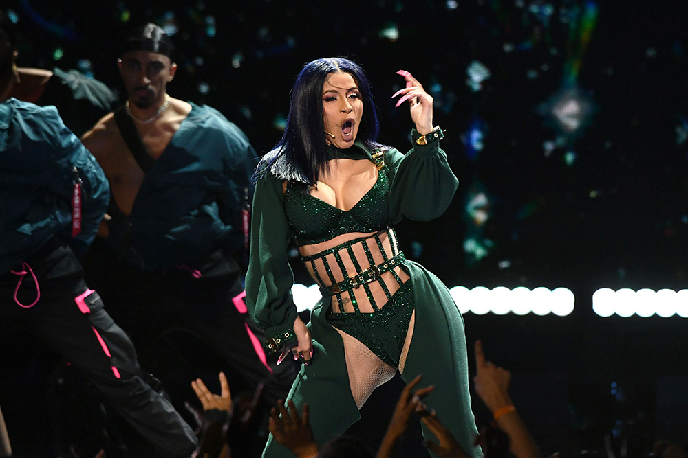 Mandatory Credit: Photo by Michael Buckner/Variety/Shutterstock (10317962c) Cardi B BET Awards, Show, Microsoft Theater, Los Angeles, USA - 23 Jun 2019