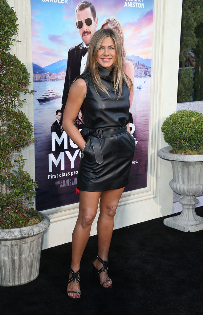 Mandatory Credit: Photo by MediaPunch/Shutterstock (10300460w) Jennifer Aniston 'Murder Mystery' film premiere, Arrivals, Regency Village Theatre, Los Angeles, USA - 10 Jun 2019 Wearing Celine