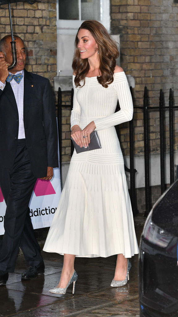 Mandatory Credit: Photo by Tim Rooke/Shutterstock (10303341ab) Catherine Duchess of Cambridge Action on Addiction Gala Dinner, Somerset House, London, UK - 12 Jun 2019