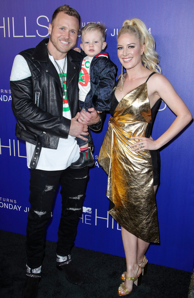 Mandatory Credit: Photo by Matt Baron/Shutterstock (10315685k) Spencer Pratt, Gunner Stone and Heidi Montag MTV's 'The Hills: New Beginnings' TV Show party, Arrivals, Liaison Restaurant and Lounge, Los Angeles, USA - 19 Jun 2019