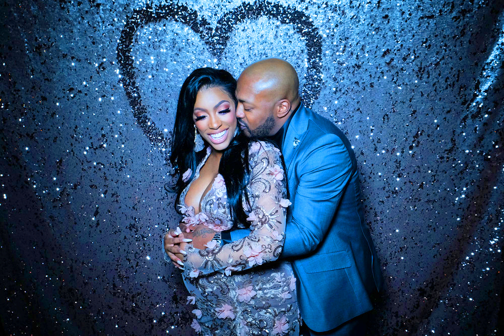 THE REAL HOUSEWIVES OF ATLANTA PORSHA'S HAVING A BABY -- Pictured: (l-r) Porsha Williams, Dennis McKinley -- (Photo by: Annette Brown/Bravo)