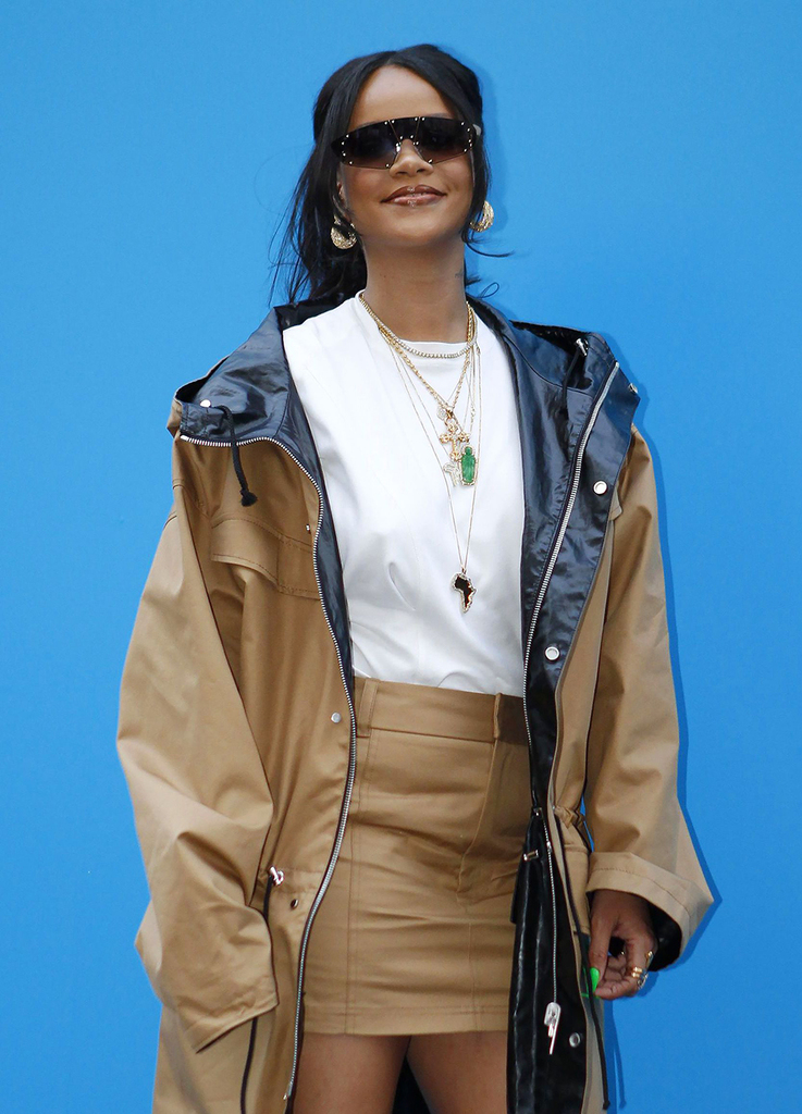 Mandatory Credit: Photo by Philippe Blet/REX/Shutterstock (10246024b) Rihanna Rihanna at Fenty store, Paris, France - 23 May 2019