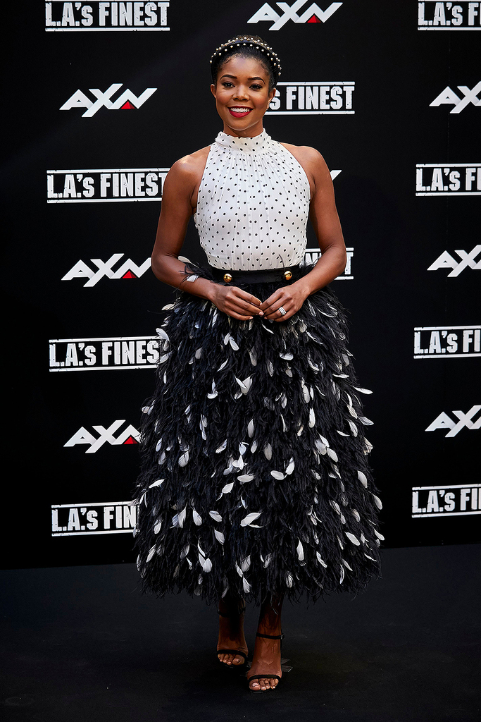 Mandatory Credit: Photo by A Perez Meca/Shutterstock (10299955c) Gabrielle Union 'L.A.'s Finest' TV show photocall, Madrid, Spain - 10 Jun 2019 Wearing Prada